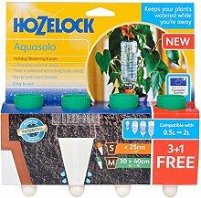 "Hozelock AQUASOLO Slow Bewässerung Kegel (grün) 4Stück für Töpfe bis 40,6cm """"/40cm"