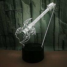 HPBN8 3D Elektrische Gitarre Lampe Nacht Licht USB