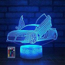 HPBN8 Ltd 3D Auto Lampe 7/16 Farbwechsel
