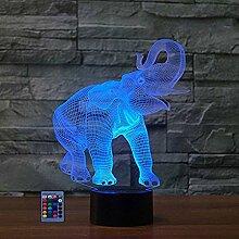 HPBN8 Ltd 3D Elefant Illusions LED Lampen