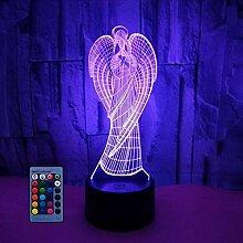HPBN8 Ltd 3D-Engel-Nachtlicht, Illusionslampe,