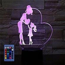 HPBN8 Ltd 3D Mutter und Tochter Nacht Licht LED