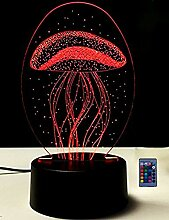HPBN8 Ltd 3D Quallen Illusions LED Lampe 7/16