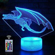 HPBN8 Ltd Kreative 3D Dinosaurier Lampe Nacht