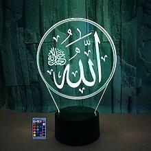 HPBN8 Ltd Kreative 3D Islamischer Muhammad Nacht