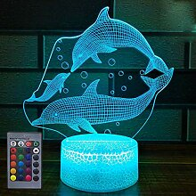 HPBN8 Ltd Kreative Delfin Nacht Licht Delfin Lampe