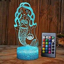 HPBN8 Ltd Kreative Meerjungfrau Nacht Licht