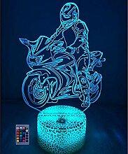 HPBN8 Ltd Kreative Motorrad Stunts Nacht Licht