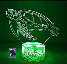 HPBN8 Ltd Kreative Schildkröte Nacht Licht Lampe