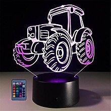HPBN8 Ltd Neue 3D Traktor Lampe 7/16 Farbwechsel