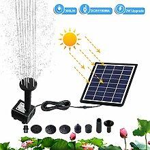 Hpory Solar Teichpumpe 300 l/h Solarmodul