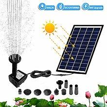 Hpory Solar Teichpumpe 500 l/h Solarmodul