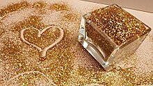 HQ Decor Glitzer GOLD für Wandfarbe &
