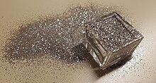 HQ Decor Glitzer Silber für Wandfarbe & Dispersionsfarbe. Nur 1 Arbeitsgang. Keine Lasur. (Glitter , Glitzerstaub , Glitterpuder , Glitzer Effekt , Glimmer-Optik , glitzernde Wanddekoration) 40g Beutel - GRUNDPREIS: 1KG = 399,75 EUR