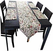 HQdeal Tischläufer Edle und Tischsets Tischband