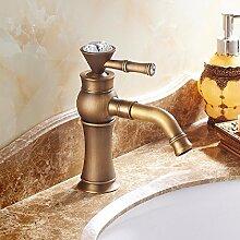 HQLCX WaschbeckenhahnAntike Gold - Becken Wasserhahn,Ein