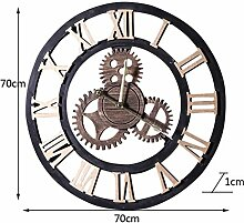 HQQ LOFT Industrial Style Wanduhr Ornament Wand