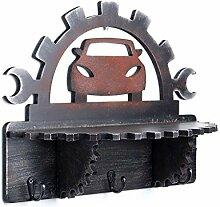 HQQ Vintage Wooden Gear Wandregal | Regale