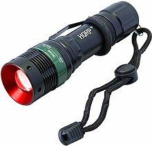HQRP High Power LED-UV-Taschenlampe 3W 625nm