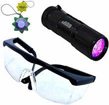 HQRP Professionale UV-Taschenlampe 365 nm 9 UV LED