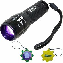 HQRP Profi 390 nM 3W UV-LED-Taschenlampe