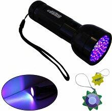 HQRP UV-Taschenlampe Professional 51 LED 390 nM
