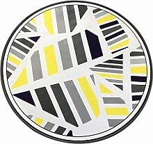 HR Einfache Moderne nordische Runde Teppich Matte,