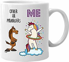 HR Manager Mug Funny Unicorn Gifts for Women Men