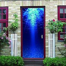 HRKDHBS 3D Tür Bewirken Fototapete Meerwasser