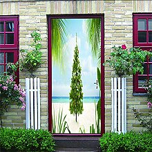 HRKDHBS 3D Tür Bewirken Fototapete Weihnachtsbaum