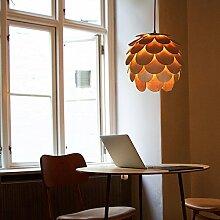 HROOME Modern Holz Kunst Deckenbeleuchtung DIY Puzzle Lampe Kamelie Hängende Lampenschirm Leuchter für Wohnzimmer Restaurant Hotel Café Bar 1-Licht Pendelleuchten Blume