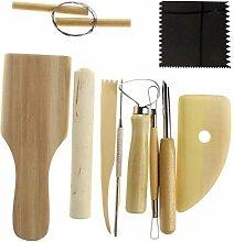 Hrph 10pcs beweglicher Verschiedene Holz Metall Lehm DIY Keramik-Skulptur Craft Tools Neue