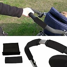Hrph 2pcs Kinderwagen Griff Abdeckung Skid Multi Widerstand Rollstühle Poussette Anti-Rutsch-Matte Hand-Schutz-Abdeckung Werkzeuge