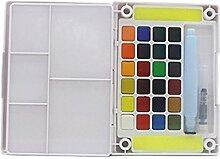Hrph Box von 12/18/24/30/36/48 Farben Aquarell Feste Petit Aquarell Im Freien Laptop Skizze-Kunst Werkzeuge Zubehör
