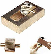 Hrph Lederhandwerk Werkzeugbau Ölgemälde Box + 2 Rollen Messing DIY Handherstellung Nähen Werkzeuge Sets