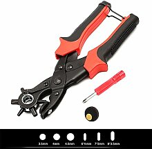Hrph Neue Heavy Duty Strap Leder Loch Punch Hand Zange Gürtel Punch Revolving DIY Werkzeuge