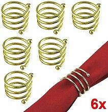 Hrph Serviette der Serviette-6pcs Serviette-Halter-Westdinner-Tuch-Serviette-Ring-Partei-Dekoration-Tabellen-Dekoration