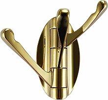 Hrph Wandhalterung 3 Robe-Haken New Luxuxchrom Goldene Brushed Badezimmer Toilette Schlafzimmer Kleiderbügel