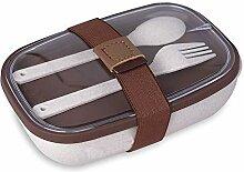HruiZ Brotdose mit Reishülle. 600 ML ● Lunchbox