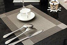 HS 91069 6er Set, Silber hochwertige Tischsets /