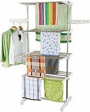 HS-Lighting Mobiler Wäscheständer Klappbar