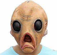 HSDDA Dekoration Latex Alien Kopfbedeckung Maske