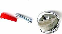 HSI - Stopper - Türstopper - 960582 - Messing - 45 Ø - Höhe 27 mm - Boden Tür - verchrom