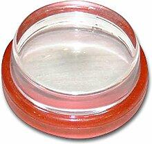 HSI Türstopper Kunststoff Transparent, Kautschuk, Klar mit Rotem Gummiring, 3.8 x 3.8 x 2.2 cm