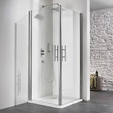 HSK Exklusiv Dusche mit Eckeinstieg 90 cm x 75 cm