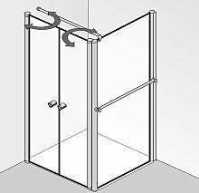 HSK Exklusiv Duschtür mit Seitenwand 80 cm