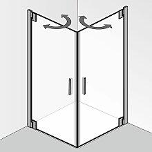 HSK K2P Dusche mit Eckeinstieg 80 cm x 80 cm