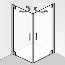 HSK K2P Dusche mit Eckeinstieg 90 cm x 80 cm
