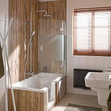 HSK Premium Softcube Badewannenaufsatz 90 cm