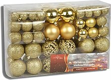 HSM 200 x Weihnachtskugeln Gold Christbaumkugeln